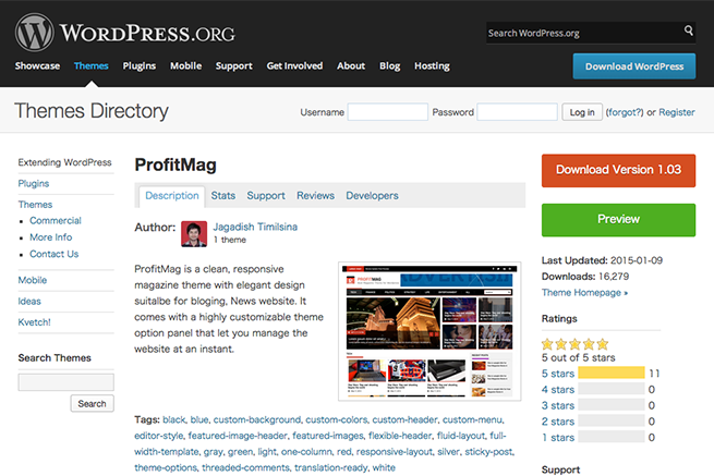 WordPress › ProfitMag « Free WordPress Themes