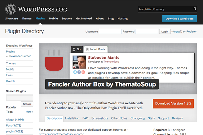 WordPress › Fancier Author Box by ThematoSoup « WordPress Plugins