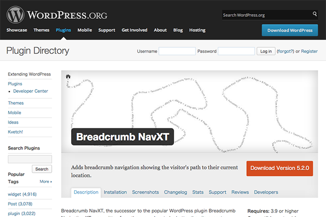 WordPress › Breadcrumb NavXT « WordPress Plugins