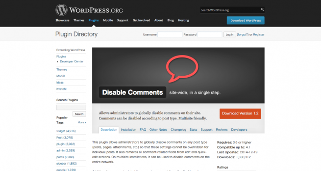WordPress › Disable Comments « WordPress Plugins