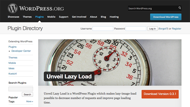 WordPress › Unveil Lazy Load « WordPress Plugins