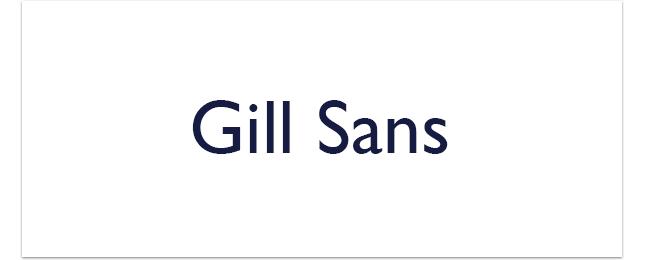 Gill-Sans
