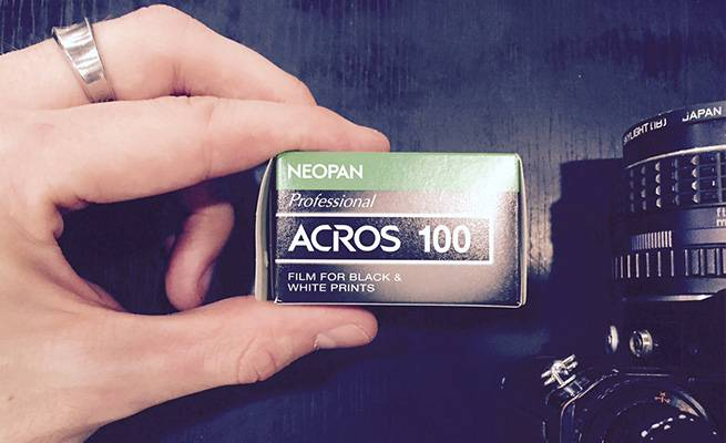 Fujifilm ACROS 100 black & white film stock
