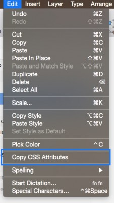 SketchのCSS機能