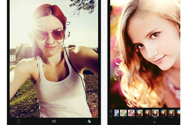 カメラアプリ「B612」公式サイトのトップページ画像