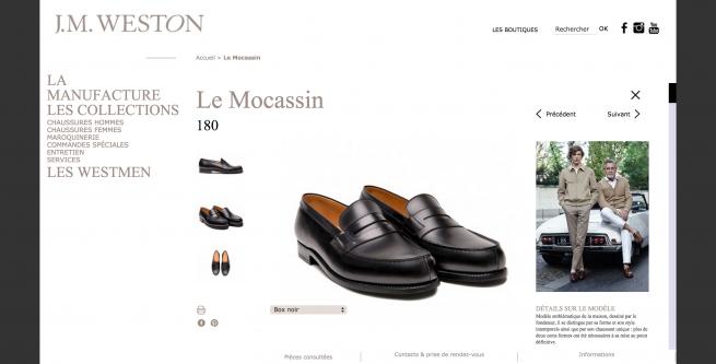 Weston - Chaussure Homme Cuir- Le Mocassin 180 Noir