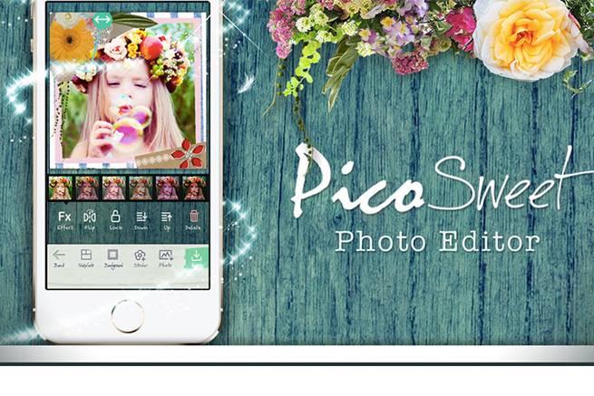 カメラアプリ「Pico Sweet」公式サイトのトップページ画像