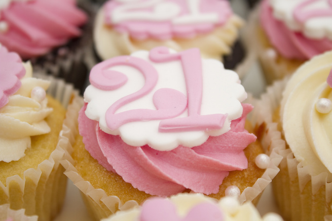 cupcakes for 21st birthday