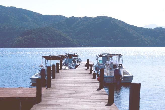 野尻湖湖面