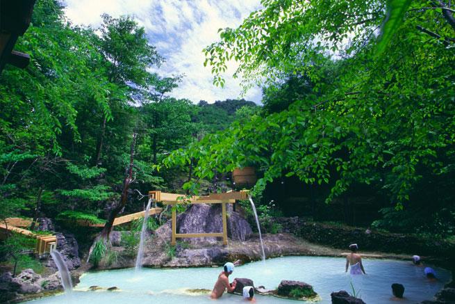 白骨温泉の露天風呂の写真