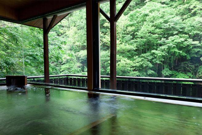 鹿塩温泉の露天風呂の写真
