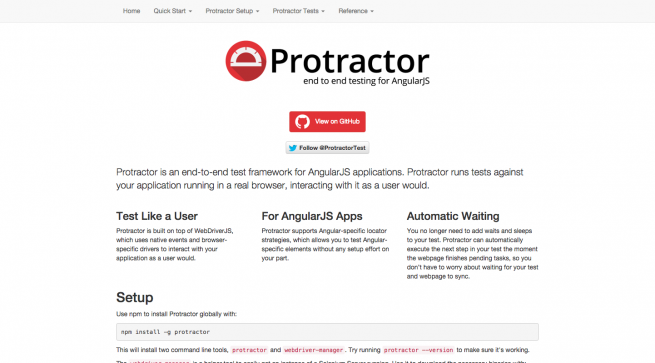 Protractor   end to end testing for AngularJS