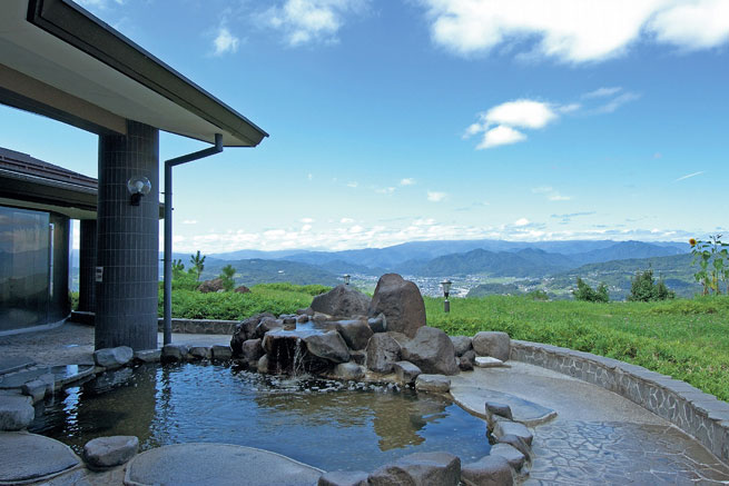 みづほ温泉の露天風呂の写真