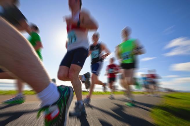 Runners, marathon