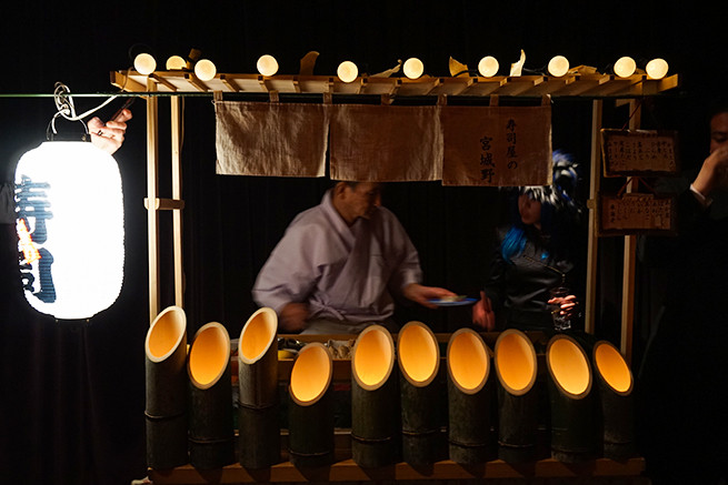竹のライト