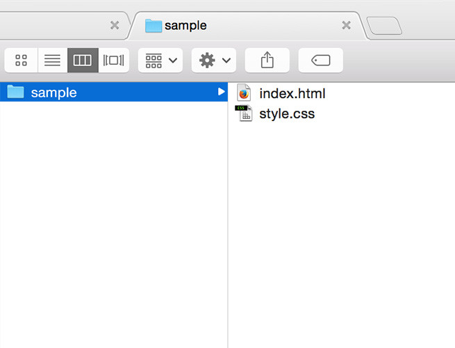 HTMLファイルにCSSファイルを読み込む