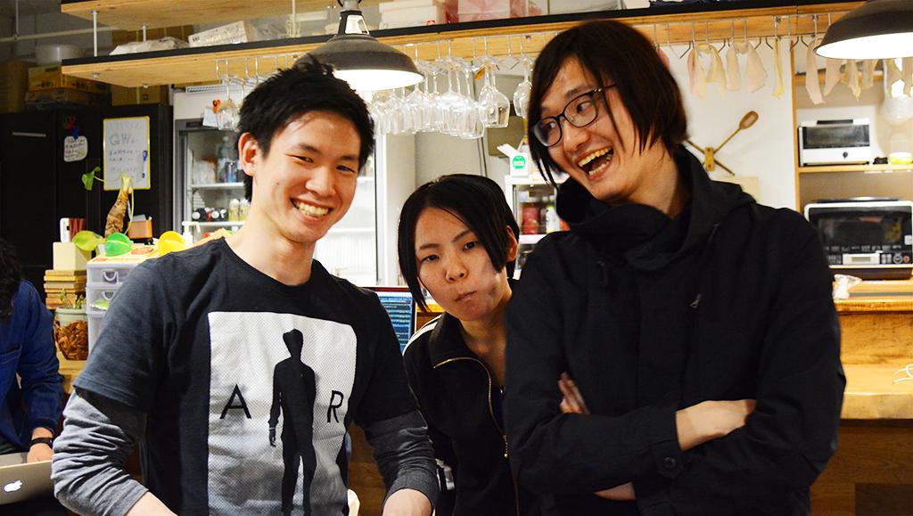 LIGフロントエンドチームのメンバー3人が写真に写っています。