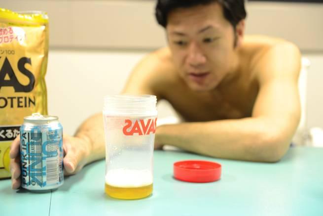ビールとプロテイン