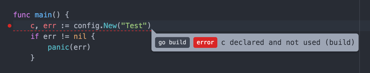 Golang Build Errors - Unused variables