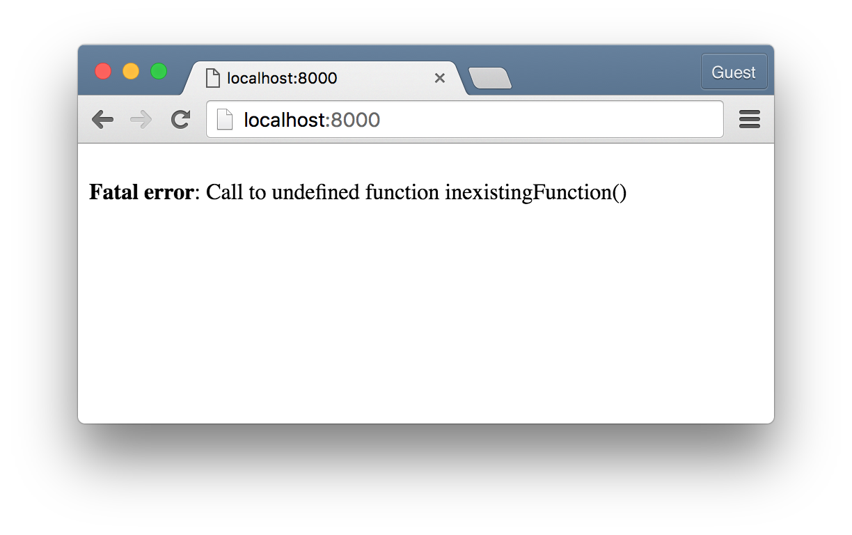Golang vs PHP - Inexisting Function Call on PHP