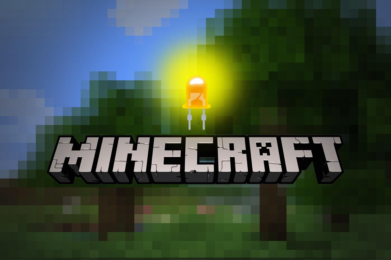 マインクラフトが現実を動かす minecraft のスイッチで現実世界のled