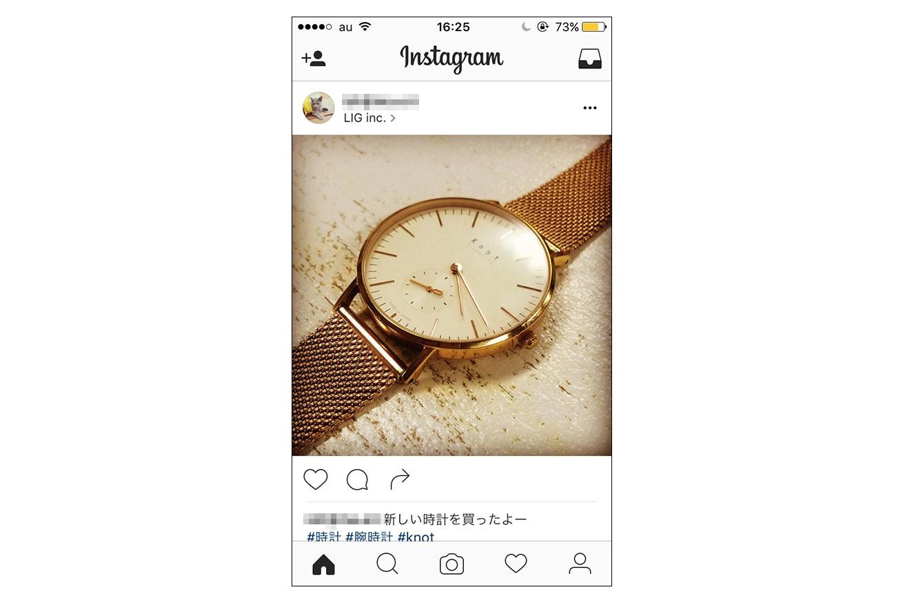 Instagram上に投稿した写真の画像