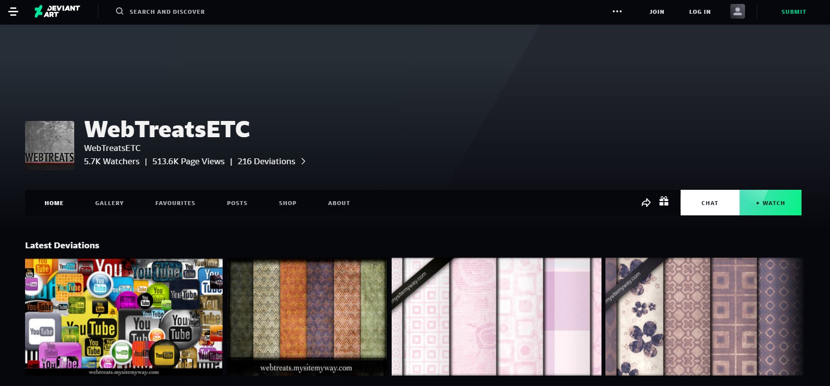 WebTreatsETC User Profile   DeviantArt