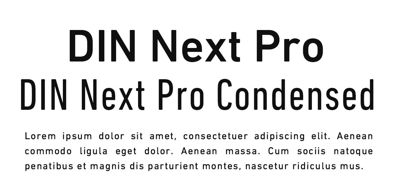DIN Next Pro