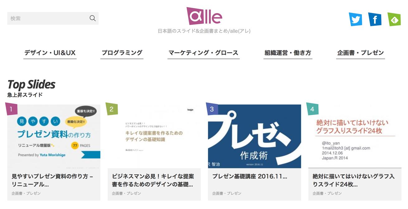 日本語のスライド&企画書まとめ/alle(アレ)