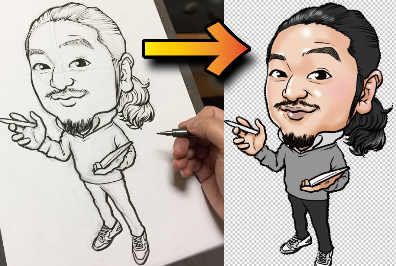 手描きの線画をpcに取り込んでphotoshopで色を塗る方法 東京上野のweb