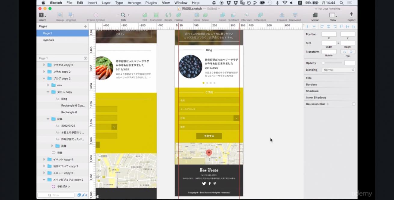 Webやアプリの最新デザインツール Sketch3 |100レッスンの完全マスターコース   Udemy (1)