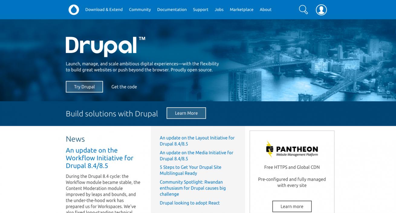 Drupal Open Source CMS Drupal.org