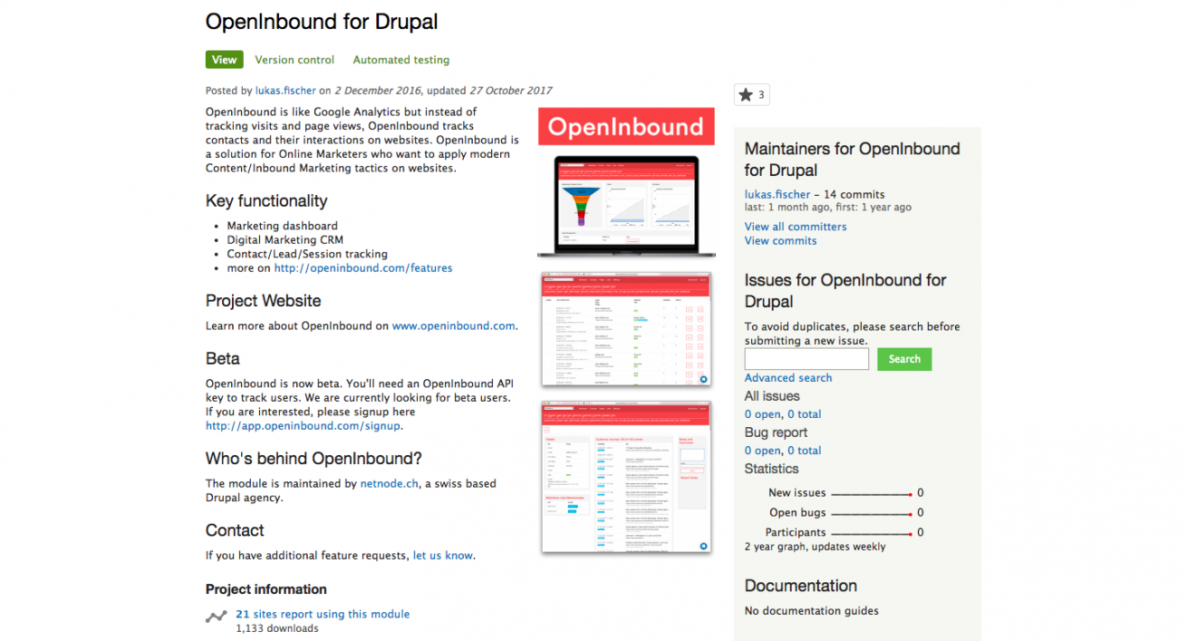 OpenInbound for Drupal Drupal.org
