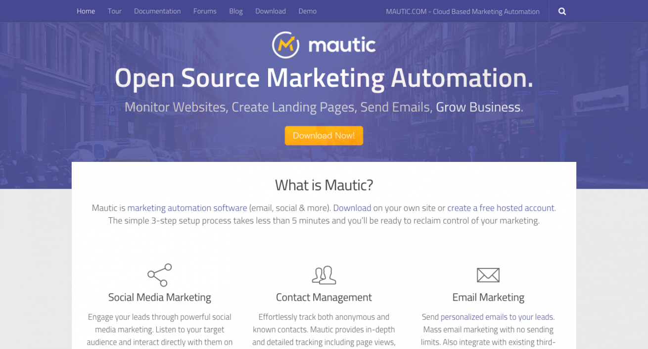 Open Source Marketing Automation  Mautic