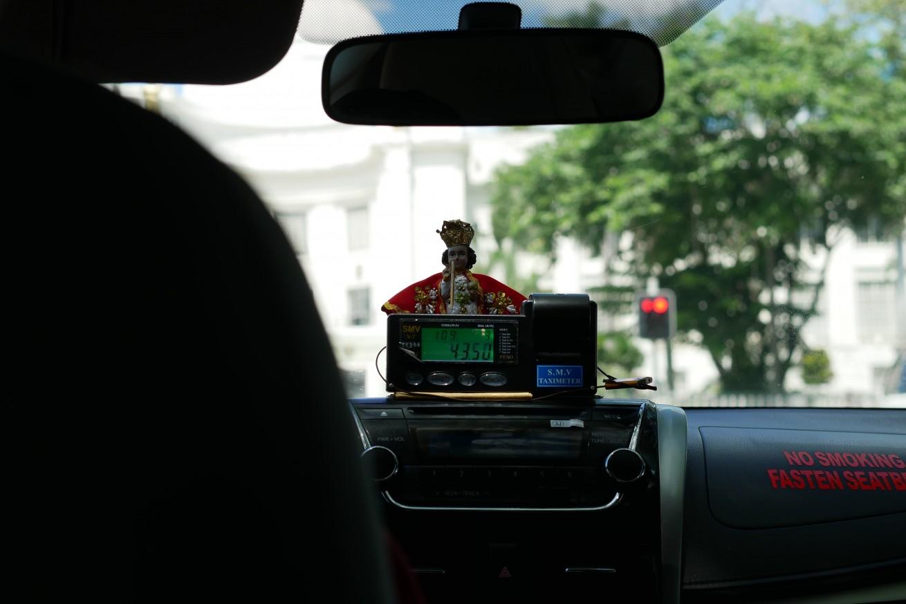 セブのタクシーのメーターの画像