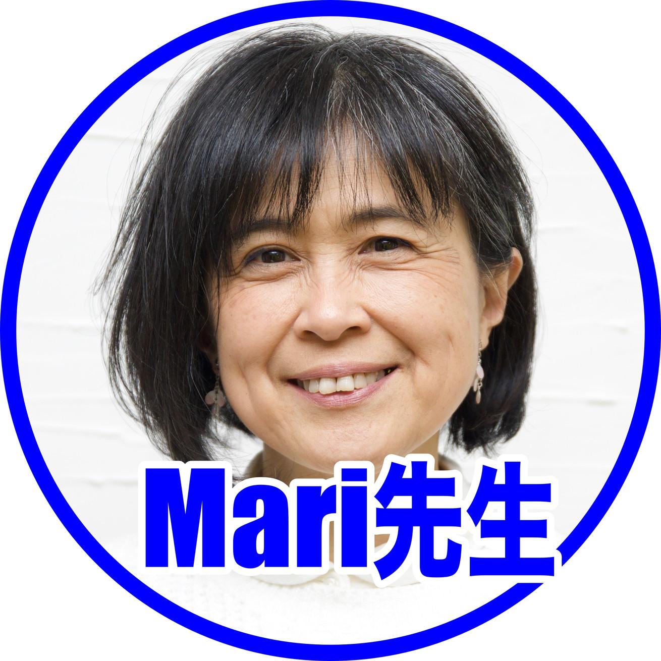 Mari先生枠付き顔