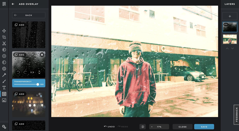 Pixlr Xでオーバーレイをつけた画像