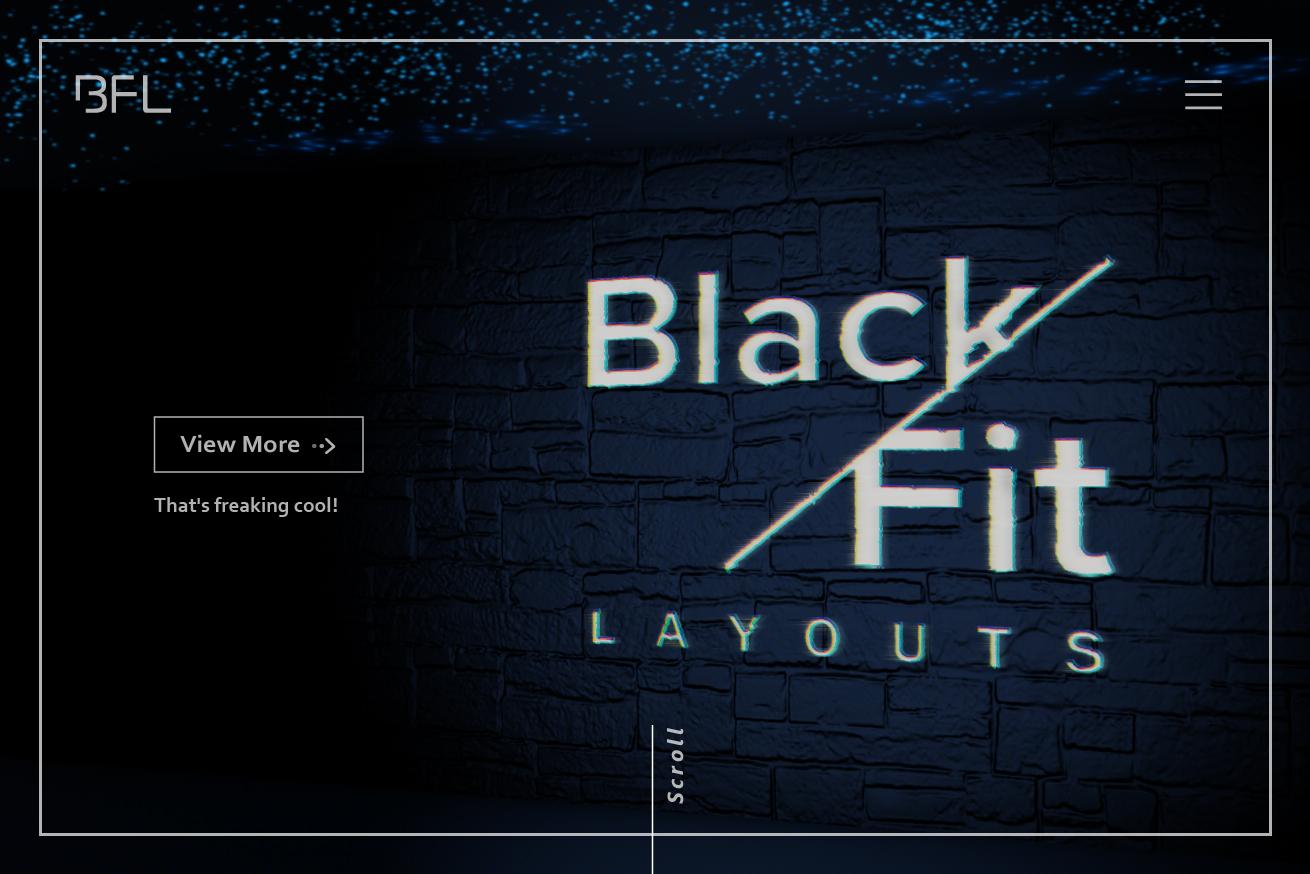 グルーピングでカッコいいサイトを探す「黒xfitレイアウト」