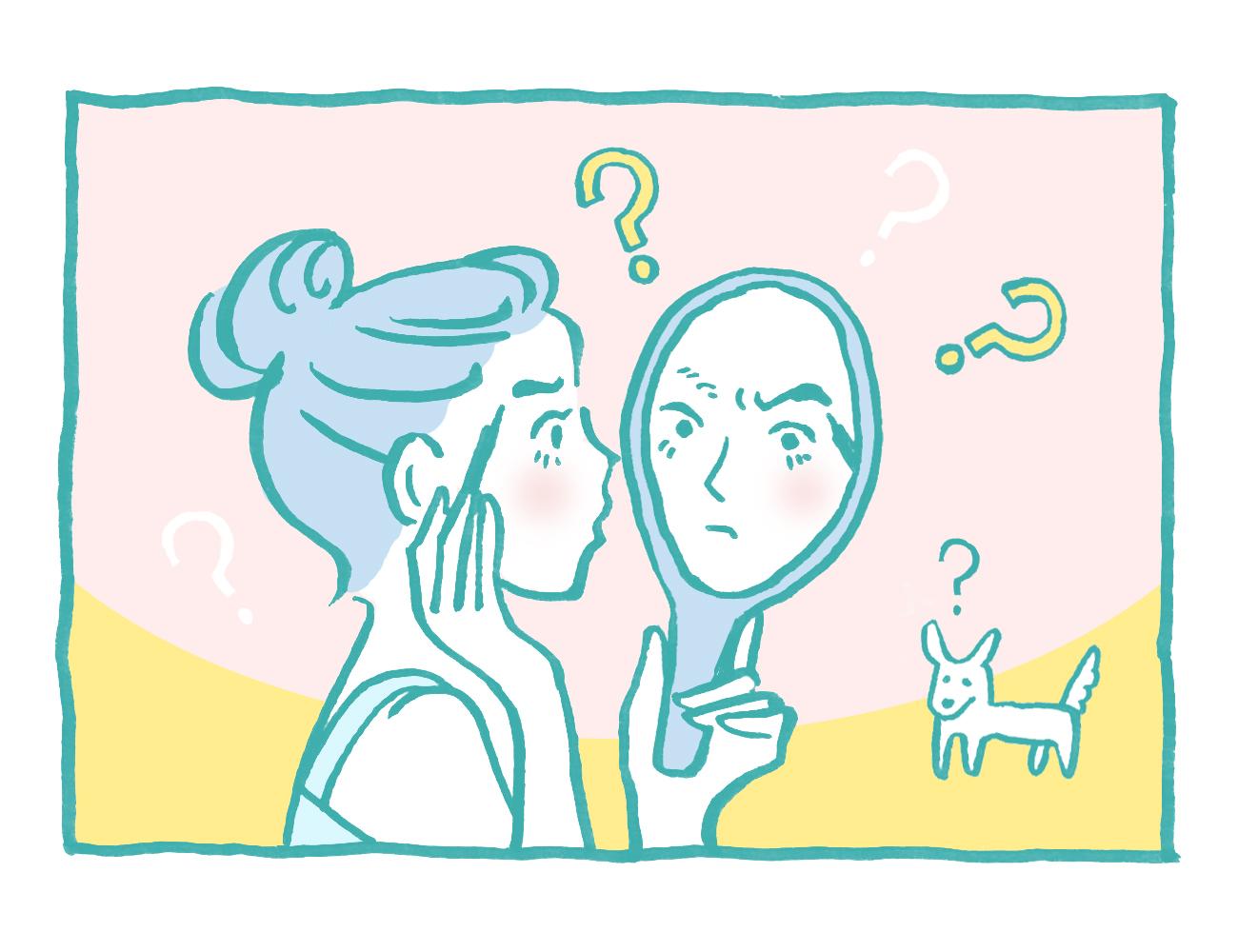 眉やアイラインがうまく描けない・ケアできないイラスト