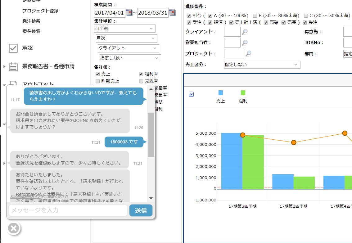 Reforma PSAのチャット画面