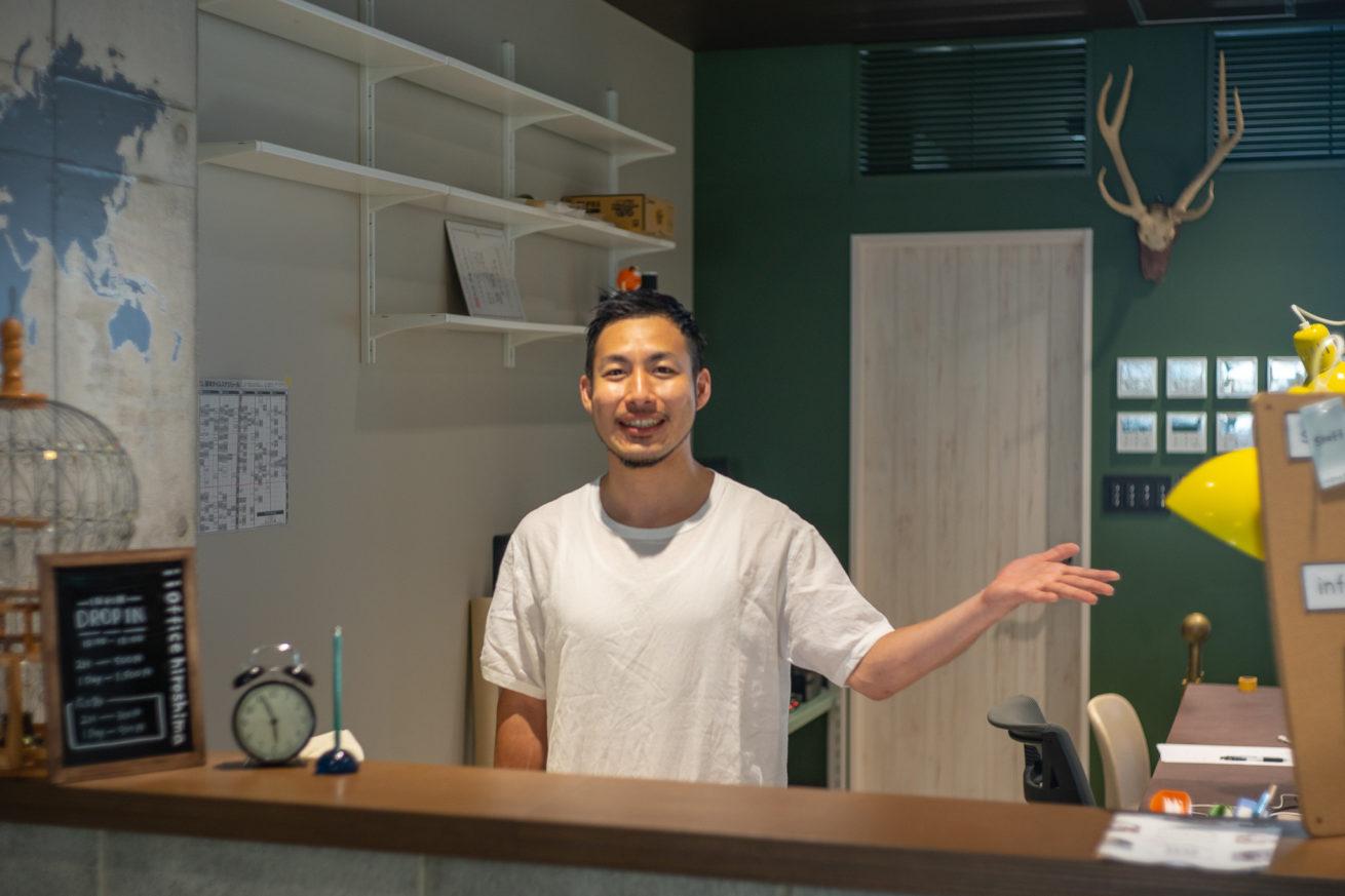 いいオフィス広島の支配人・まさしさんの写真