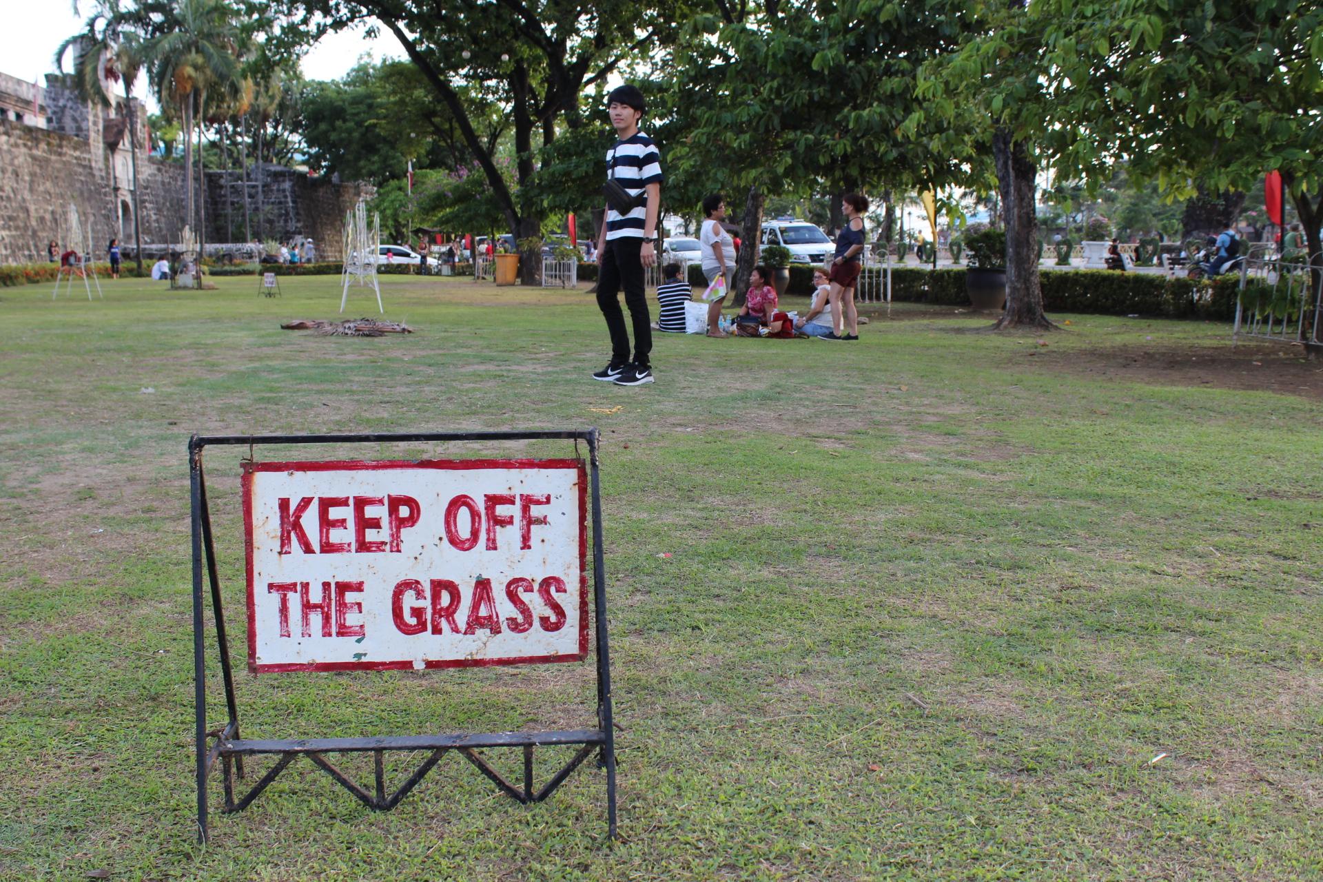 サン・ペドロ要塞の芝生