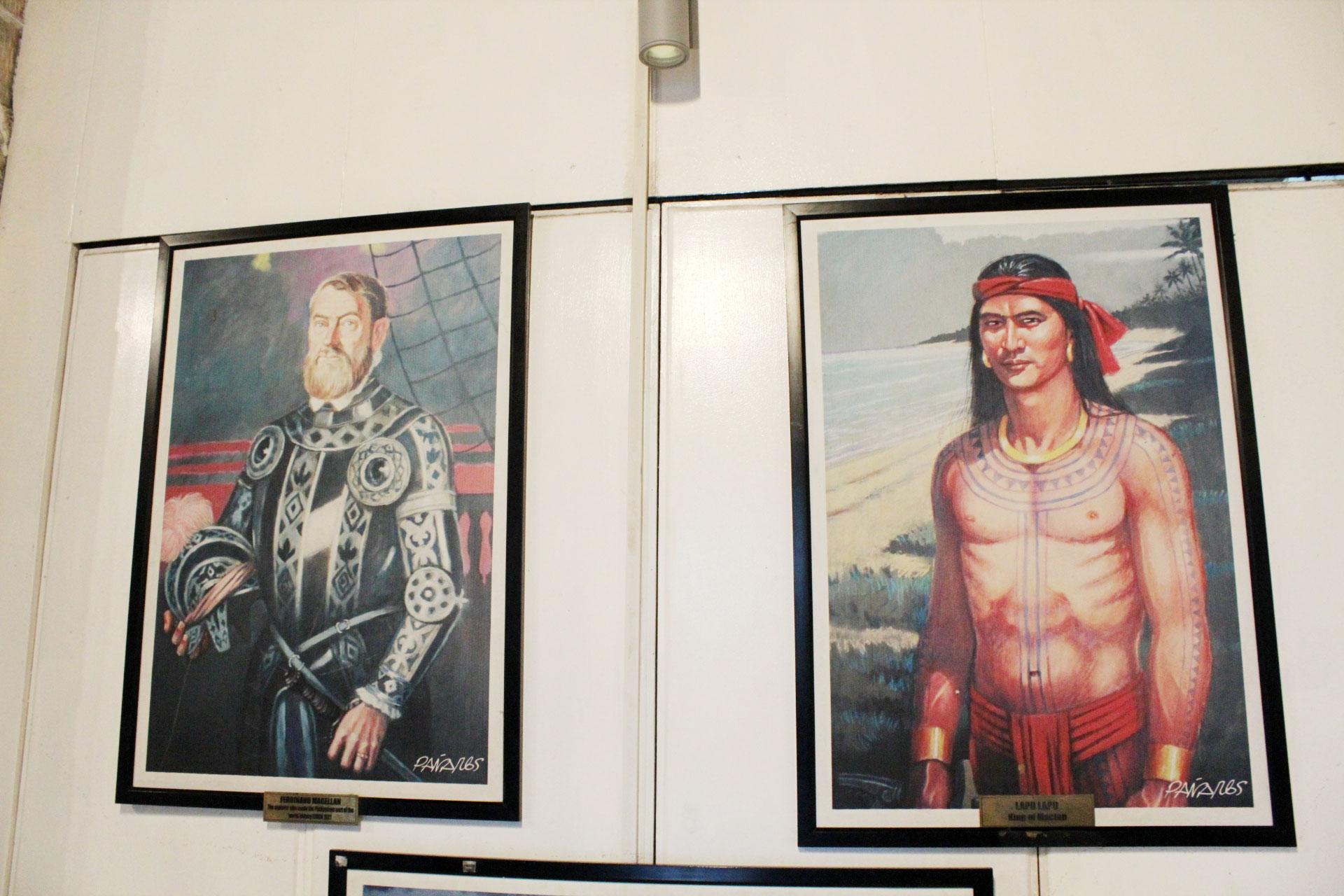 マゼランとラプラプの肖像画