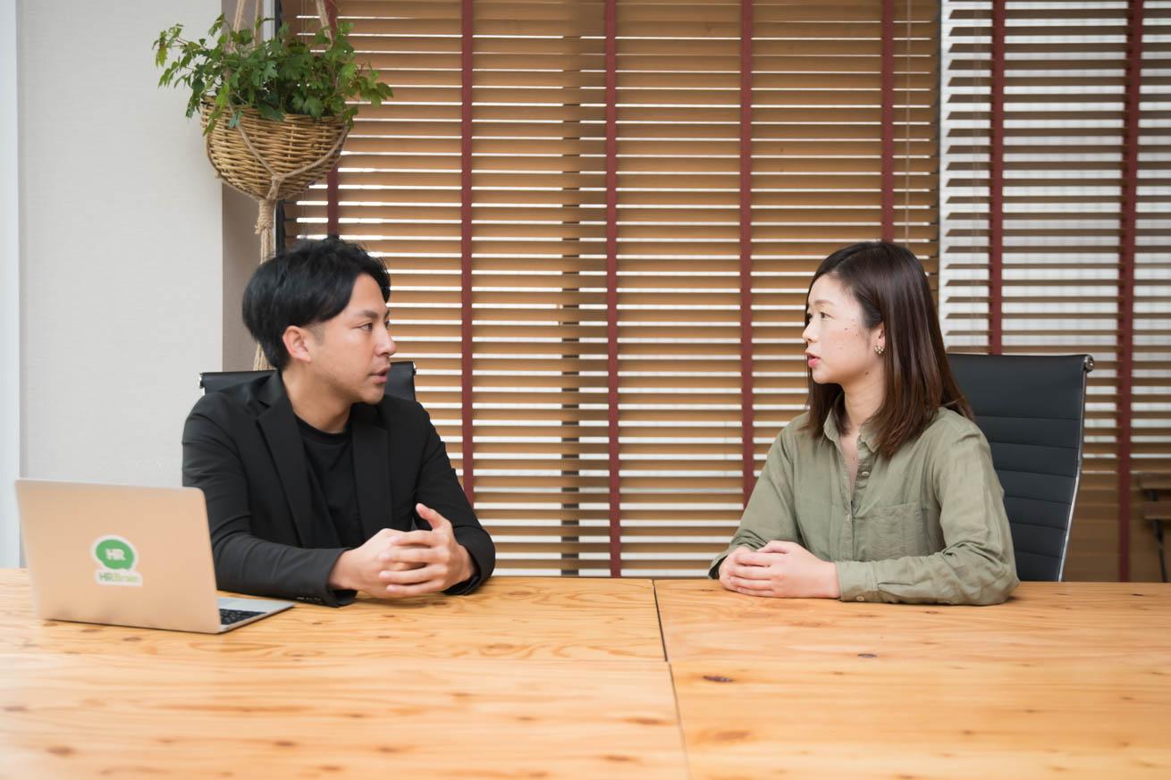 中野さんと澁谷が話している写真