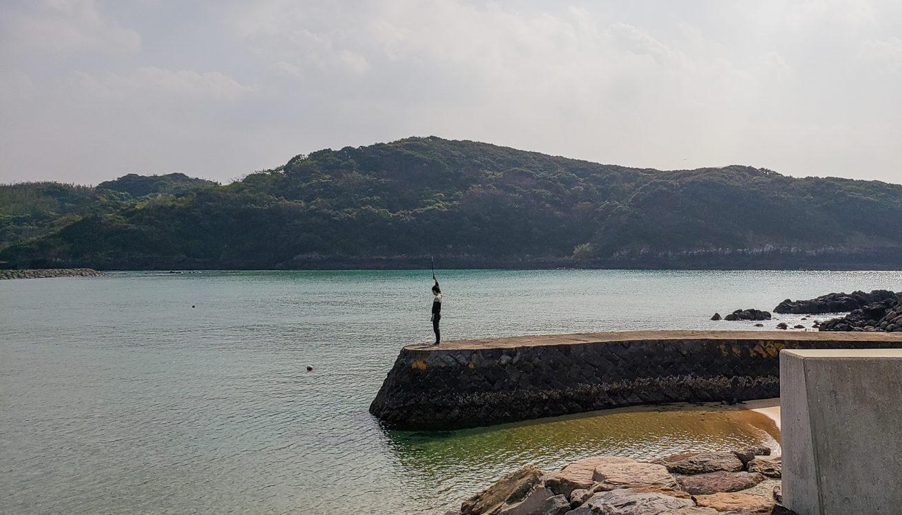 壱岐島でTHETAを使う写真