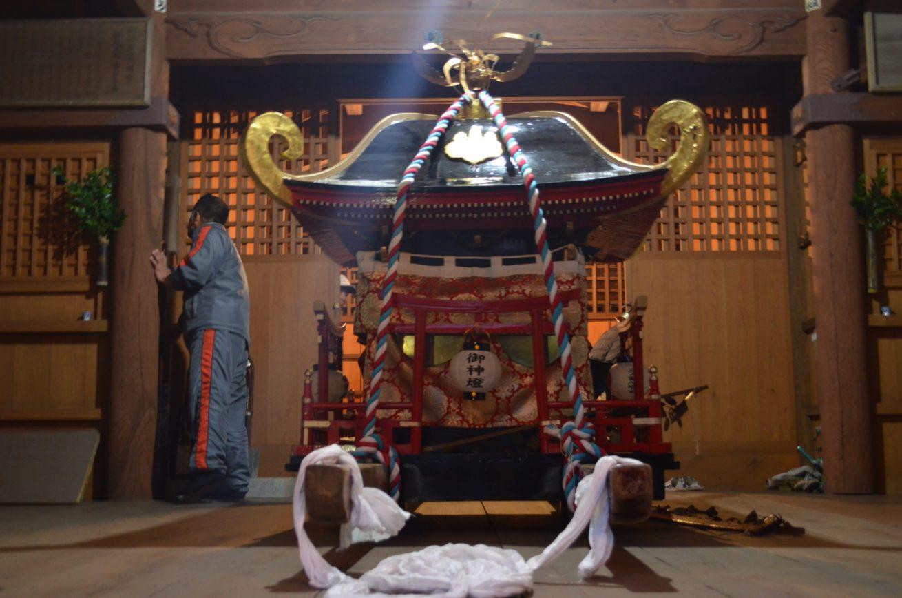 緒方三社川越まつりの神輿の写真
