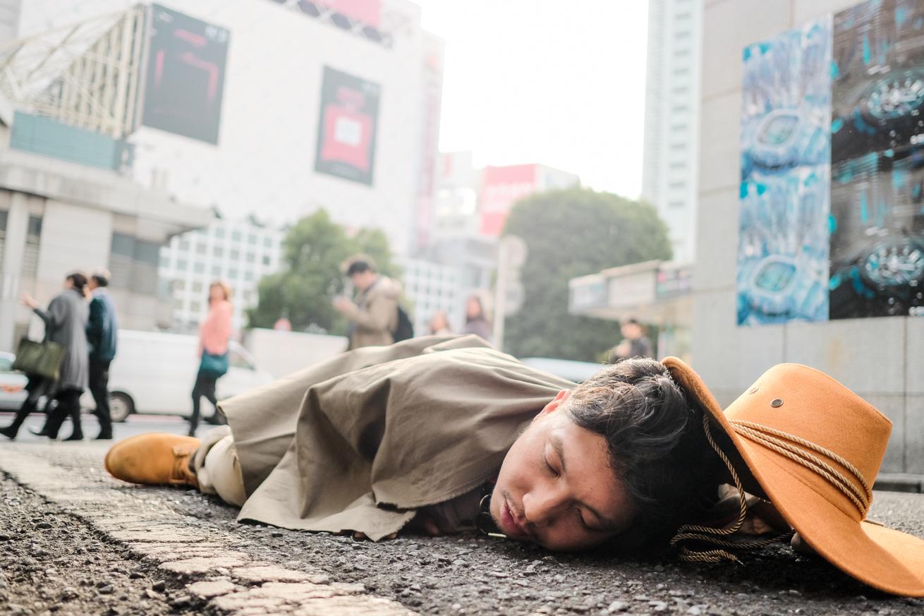 渋谷で倒れている紳さん