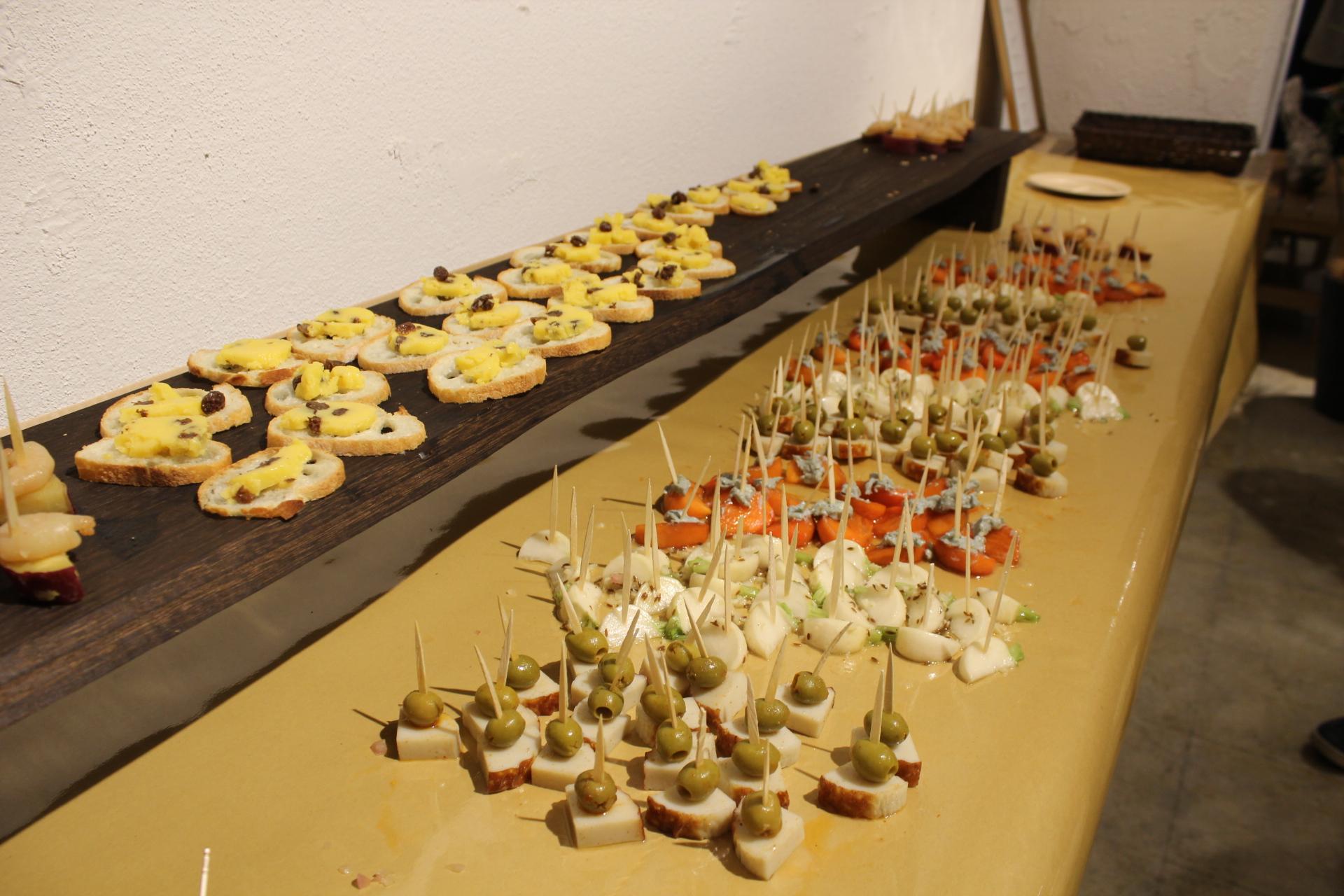 LIGの飲食事業部が提供しているピンチョスの写真