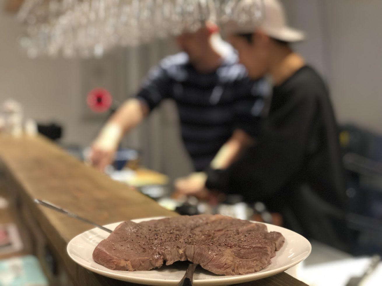 ステーキが大きい