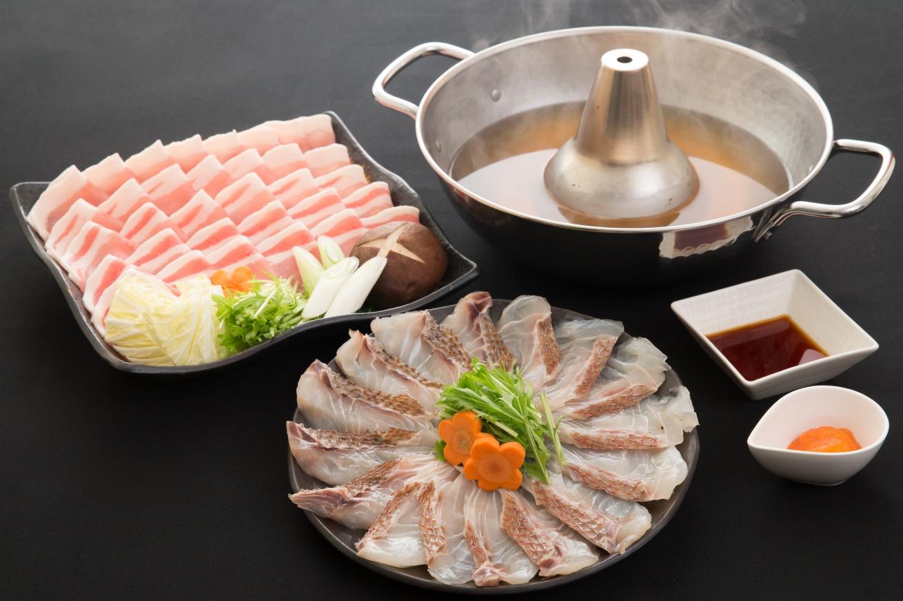糸島天然真鯛・糸島産豚しゃぶしゃぶセットの画像